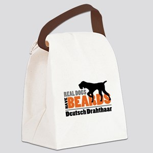 Real Dogs Have Beards - DD Canvas Lunch Bag