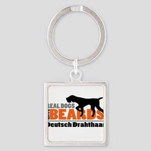 Real Dogs Have Beards - DD Square Keychain