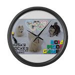 Husky Hockey WOOF Games 2014 Large Wall Clock