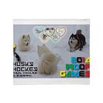 Husky Hockey WOOF Games 2014 Throw Blanket