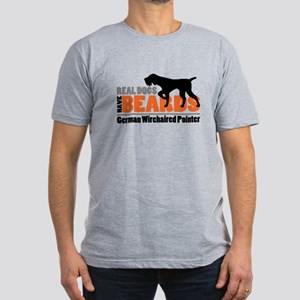 Real Dogs Have Beards Men's Fitted T-Shirt (dark)