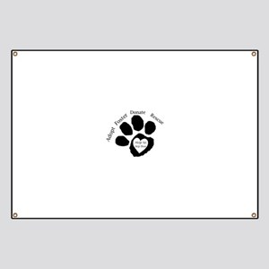 Paw print Banner