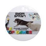 Snow Sprint WOOF Games 2014 Ornament (Round)