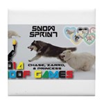 Snow Sprint WOOF Games 2014 Tile Coaster