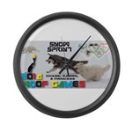 Snow Sprint WOOF Games 2014 Large Wall Clock