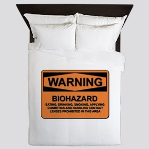 Biohazard - warning - 5 Queen Duvet