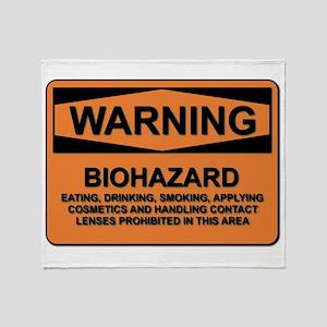 Biohazard - warning - 5 Throw Blanket