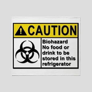 Biohazard - Caution - 5 Throw Blanket