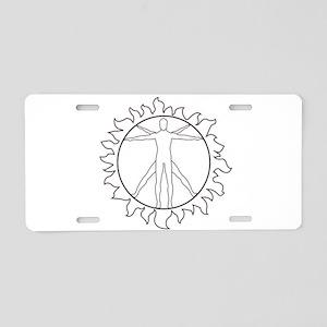 Universal Nudist Image Aluminum License Plate