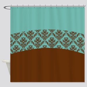turquoise and brown shower curtain. Turquoise Brown Shower Curtain And Curtains  CafePress