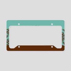 Turquoise Brown License Plate Holder