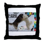 Slo-Sno Dance WOOF Games 2014 Throw Pillow