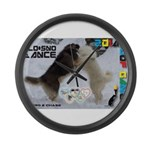Slo-Sno Dance WOOF Games 2014 Large Wall Clock