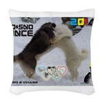 Slo-Sno Dance WOOF Games 2014 Woven Throw Pillow