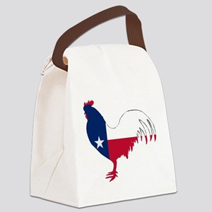 Texas Rooster Canvas Lunch Bag