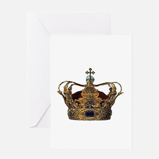 king crown Greeting Cards
