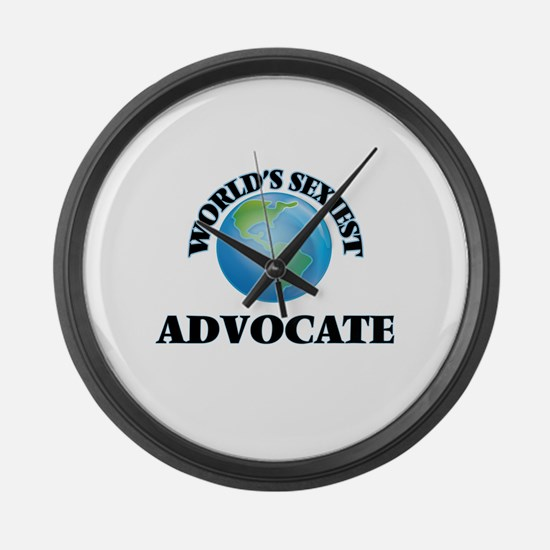 World's Sexiest Advocate Large Wall Clock