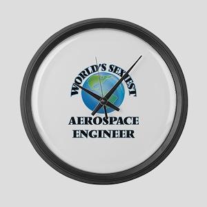 World's Sexiest Aerospace Enginee Large Wall Clock
