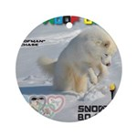 SnowBoarding WOOF Games 2014 Ornament (Round)