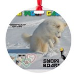 SnowBoarding WOOF Games 2014 Ornament