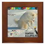 SnowBoarding WOOF Games 2014 Framed Tile