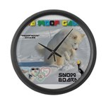 SnowBoarding WOOF Games 2014 Large Wall Clock