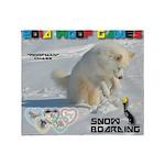 SnowBoarding WOOF Games 2014 Throw Blanket