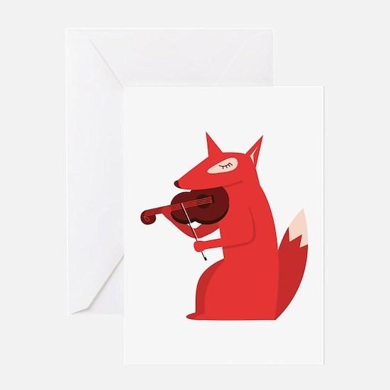 Music Fox Greeting Cards