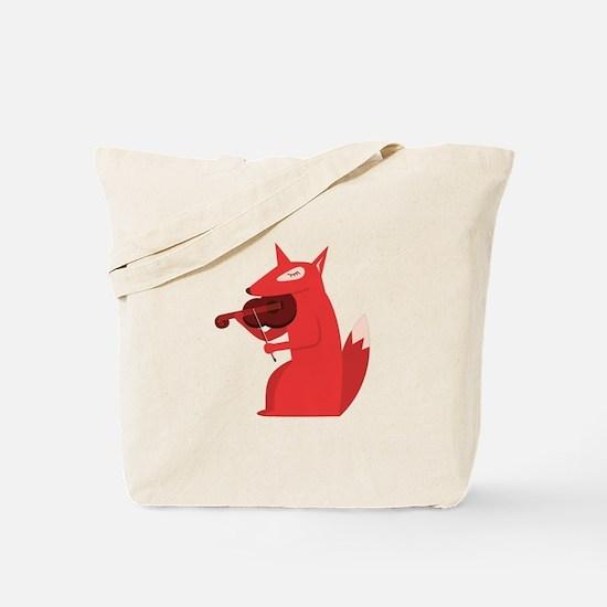 Music Fox Tote Bag