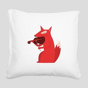 Music Fox Square Canvas Pillow