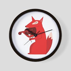 Music Fox Wall Clock