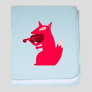 Music Fox baby blanket