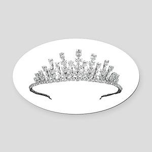 tiara Oval Car Magnet