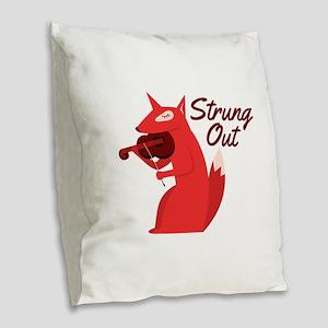 Strung Out Burlap Throw Pillow