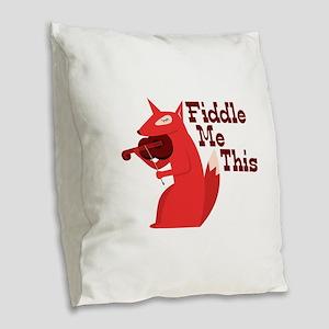 Fiddle Me This Burlap Throw Pillow
