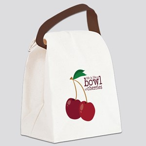 Bowl Of Cherries Canvas Lunch Bag