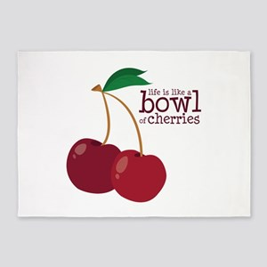 Bowl Of Cherries 5'x7'Area Rug