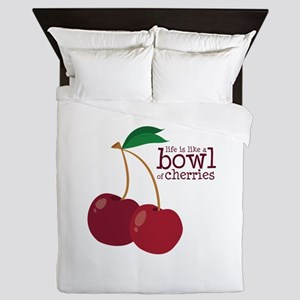 Bowl Of Cherries Queen Duvet