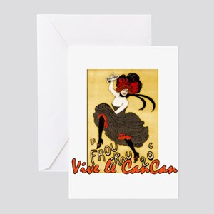Vive le Can-Can Greeting Cards (Pk of 10)