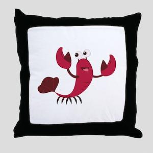 Cartoon Lobster Throw Pillow