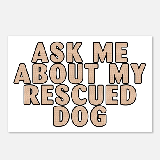 My rescued dog - Postcards (Package of 8)
