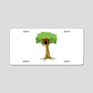 Tree House Aluminum License Plate