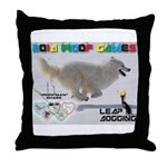 Leap Dogging WOOF Games 2014 Throw Pillow