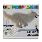 Leap Dogging WOOF Games 2014 Tile Coaster