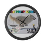 Leap Dogging WOOF Games 2014 Large Wall Clock