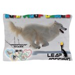 Leap Dogging WOOF Games 2014 Pillow Case