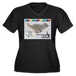 Leap Dogging WOOF Games 2014 Plus Size T-Shirt