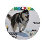 Snow-Shoeing WOOF Games 2014 Ornament (Round)