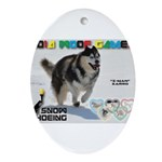 Snow-Shoeing WOOF Games 2014 Ornament (Oval)
