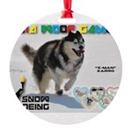 Snow-Shoeing WOOF Games 2014 Ornament